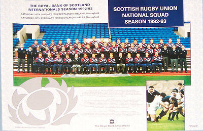 Scotland Official Sru Rugby Squad Poster 1992-3