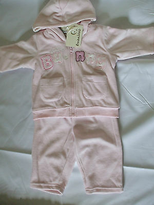 Babulino, Pink Bunny Outfit/sleepsuit Bnwt, Newborn To 3 Months