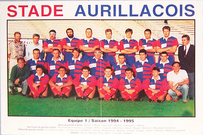 Stade Aurillacois French Rugby Team Poster 1994-95