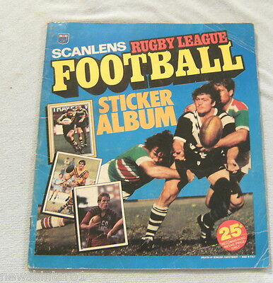 #2. Set 1983 Scanlens Rugby League Stickers & Album