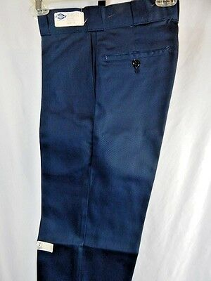 Nos Vintage 1970s Dickies Deadstock Navy Blue Retro Trouser Pants Slacks Mod 26