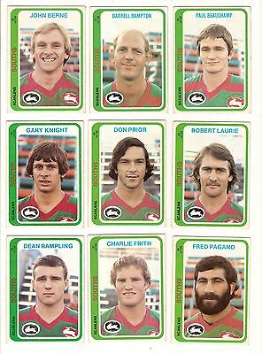 1979  Rugby League Cards - South Sydney Rabbitohs