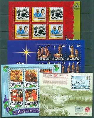 GUERNSEY 1997 – 1997 SELN OF 4 M/SHEETS UHM