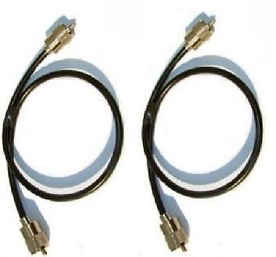 "2 X  9"" 23CM PL259 RG58 50 OHM PATCH LEADS for CB and Amateur Ham Radio"