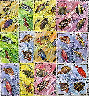 Burundi 1974 African Fish Stamps - Complete Set Of 48 Stamps - $13.15 Value!