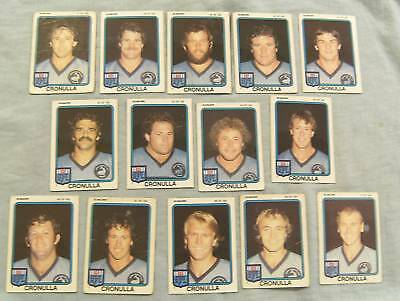 1981 Scanlens Rugby League Cards - Cronulla Sharks