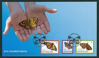 NEW ZEALAND FDC 2010 HEALTH SET OF 3 STAMPS