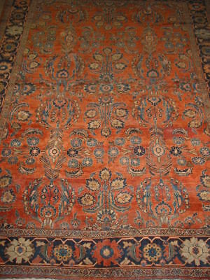 Antique Mehal Hand Knotted Persian Rug B-6361