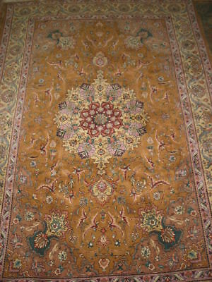 Vintage Tabriz Persian Hand Knotted Rug B-7923