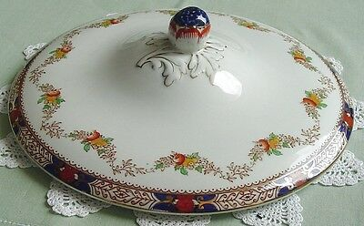 Booths OLD TIME A2460 Silicon China Cvrd Vegetable Lid IMARI Colors PEONY Finial