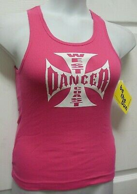 NWT Motionwear Pink Tank Muscle T-Shirt West Coast DANCER Adult Sizes