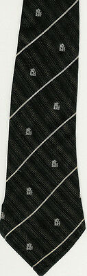 Black With White Stripes Rugby Tie Bill Clement Bc6-128
