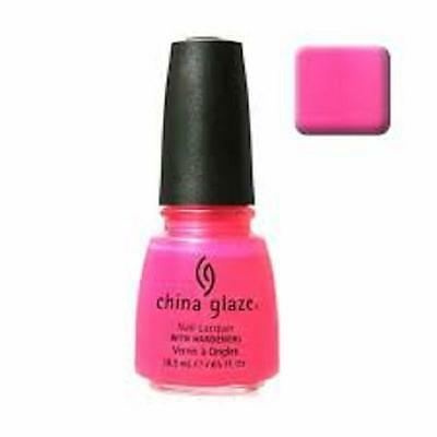 China Glaze Nail Lacquer Polish PINK VOLTAGE NEON .5 oz