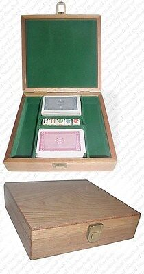 Oak Poker Chip Case - 100 Piece Capacity