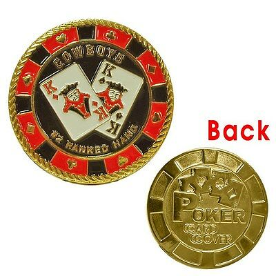 Cowboys Gold Coin Poker Card Guard Cover