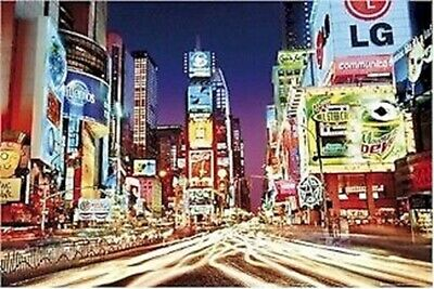 TRAVEL ~ NEW YORK CITY TIMES SQUARE LIGHTS POSTER 24x36 0237