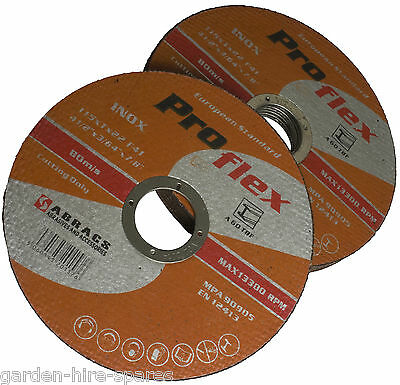 """Extra Thin 1mm X 115mm Cutting Disc 4 1/2"""" Grinder Pack Of 10"""