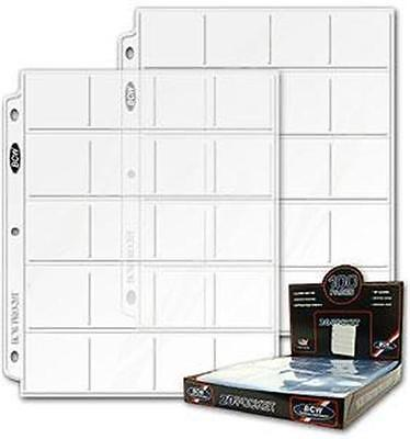 FIFTY (50)  BCW Pro 20 Pocket Pages for 2X2 Coin Flips NEW
