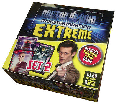 Doctor (Dr) Who Monster Invasion Extreme Trading Card Game ~ Set 2 ~ New Version