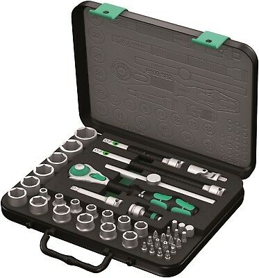 "Wera 43 Piece 3/8"" Zyklop Speed 8100 SB 2 Metric Socket & Ratchet Bit Set,003594"