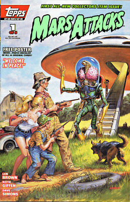 Mars Attacks Topps Comics #1,2 Nm