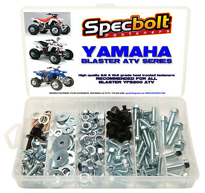 Specbolt's Yamaha Blaster Bolt Kit 120 pieces YFS200 ATV QUAD plastic body frame