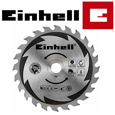 EINHELL 210mm x 24 TCT Teeth (30mm Bore) Circular Saw Wood/Timber Blade Disc