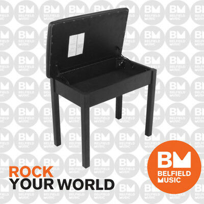 Onstage KB8902B Keyboard Piano Bench Storage Stool Wood On-Stage Flip Top