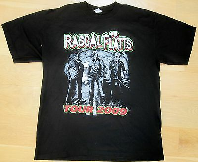 Rascal Flatts - Country - UNSTOPPABLE TOUR 2009 T-Shirt - Men's Large (L) - New