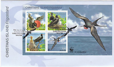2010 Christmas Island Frigatebird (Mini Sheet) FDC