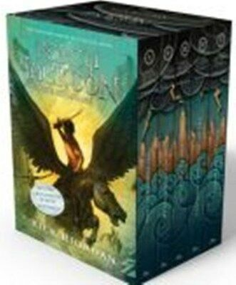 PERCY JACKSON AND THE OLYMPIANS BOXED SET New 1 - 5 books paperback + posters