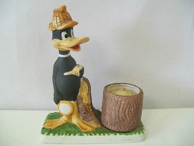 Warner Brothers 1980 Daffy Duck Candle Holder #d1139