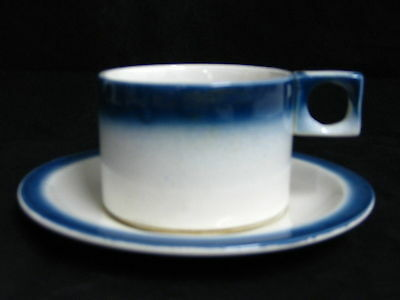 "LIMERICK "" BLUE & WHITE "" TEA CUPS AND SAUCERS"