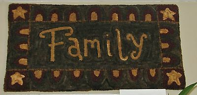 Primitive Hooked Rug Pattern On Monks ~ Family