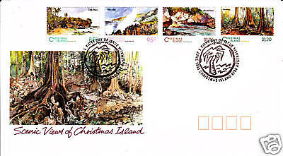 1993 Scenic Views of Christmas Island FDC Pictorial PMK