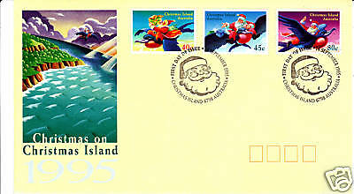 1995 Christmas on Christmas Island FDC