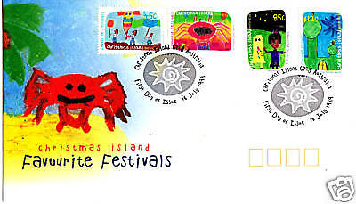 1999 Christmas Island Favourite Festivals FDC - Christmas Is PMK