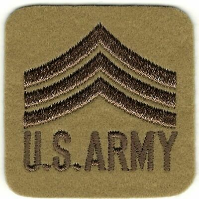 "C34 Military 5806 3/"" x 5/"" US Army Sergeant First Class iron on patch"
