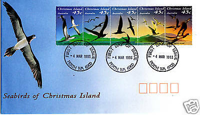 1993 Seabirds of Christmas Island (Gummed Strip) FDC - Perth WA 6000 PMK