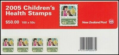 """New Zealand 2005 Health Stamp Self Adhesive """"Sheetlet"""" (Id:83/D8583)"""