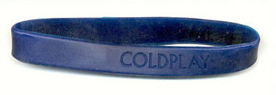 Coldplay blue Silicone Wristband Pop Rock Band Music Group Logo Wrist Cuff Promo
