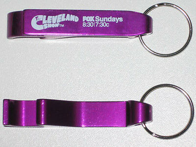 The Cleveland Show Purple logo Bottle Opener Keychain Keyring Key chain ring Fox