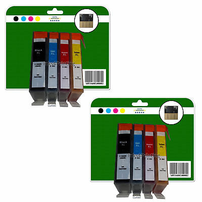 8 non-OEM Chipped Ink Cartridges for HP 3070A 3520 4610 4620 4622 364x4 XL