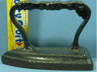 """Authentic Old Cast Iron Toy Iron W/ Cross Rib Handle 3 1/4"""" Long * On Sale * T77"""