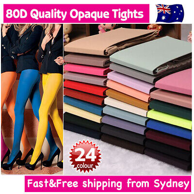 Pantyhose Stocking Hosiery Tights Footed OPAQUE Tights for Dance Costume 80D