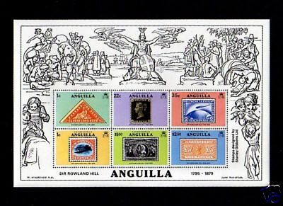 Anguilla - 1979 - Rowland Hill - Rare Stamps - Mint S/sheet!