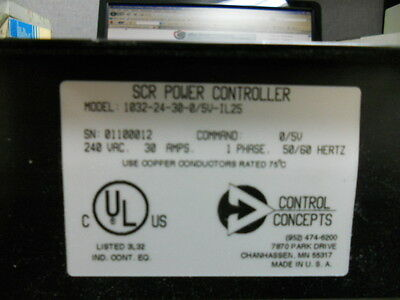 Control Concepts 1032-24-30-0 New Scr Power Controller