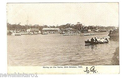 Rowing Postcard - Henly On The Yarra, 1905