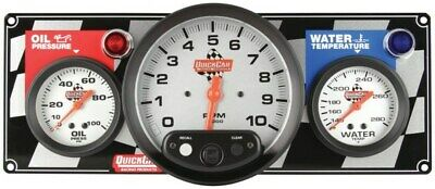 QuickCar 61-6031 Gauge Panel w/ Tach Oil Pressure Water Temp & Warning Lights