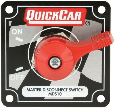 QuickCar 55-009 Red Complete Master Disconnect Emergency Cut Off Switch 2 Post